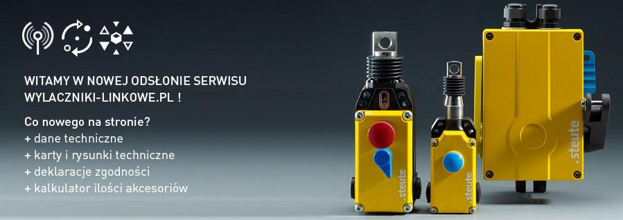 Witamy w nowej odsłonie serwisu o wyłącznikach linkowych i czujnikach zbiegania niemieckiej firmy steute.